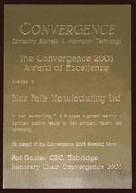 Prix d'excellence 2005 de convergence.